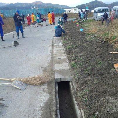 陸前高田行きのボランティアバス:画像
