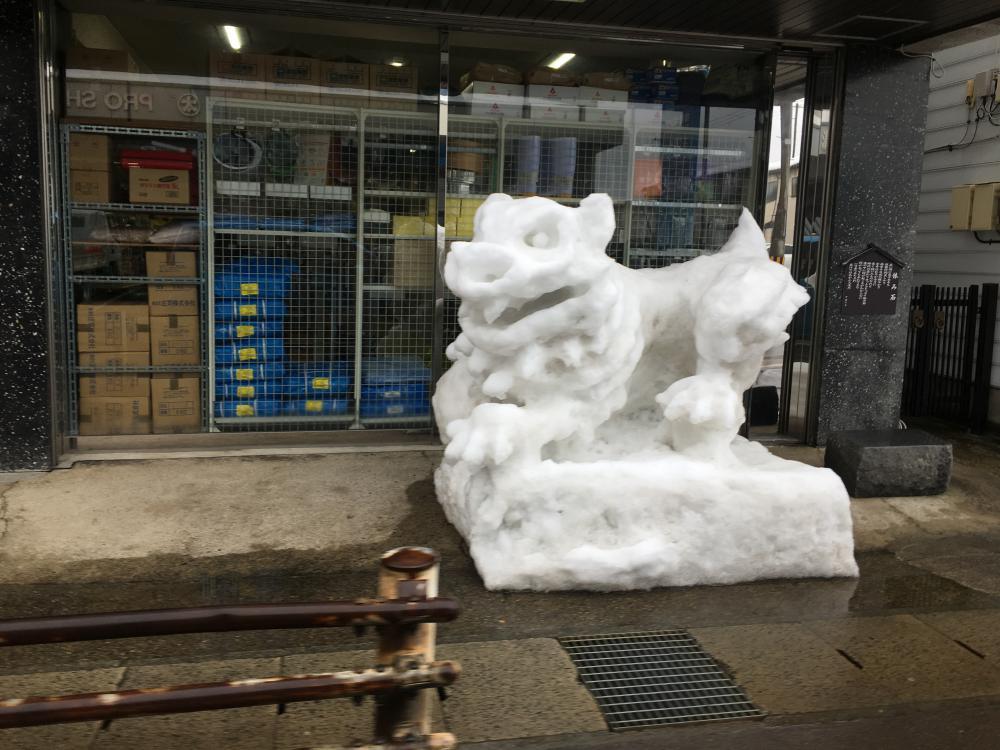 干支の雪像:画像