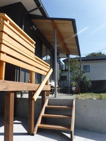 【郡山市台新・Sさん宅の改造 】デッキと軒下:画像